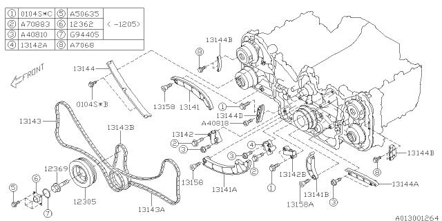12305AA330 Genuine Subaru PULLEY-CRANKSHAFT
