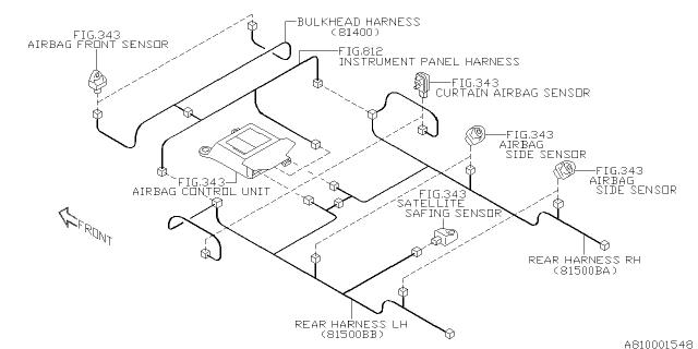 81402FL00A Genuine Subaru WIRING HARNESS CENTER BHD