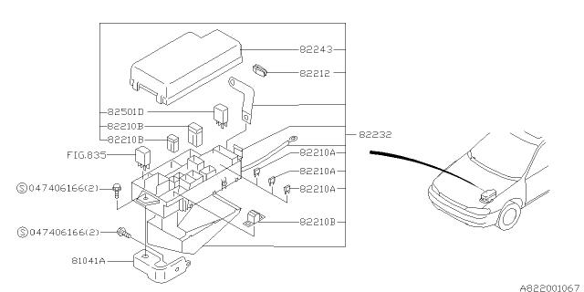 82211FC080 Genuine Subaru Fuse-Main