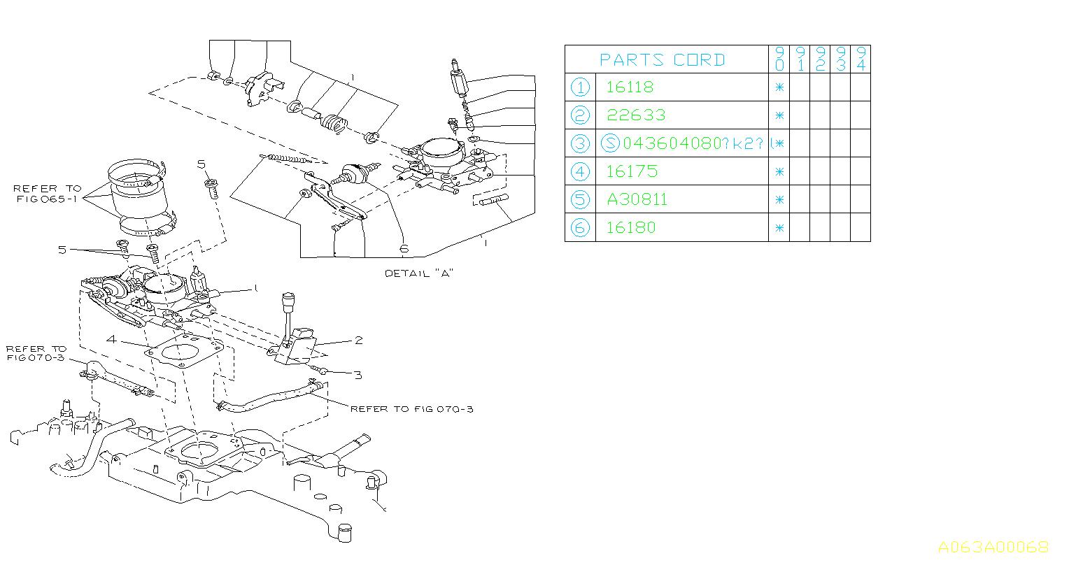 Subaru Loyale Sensor assembly-throttle. 78. Chamber, mpi