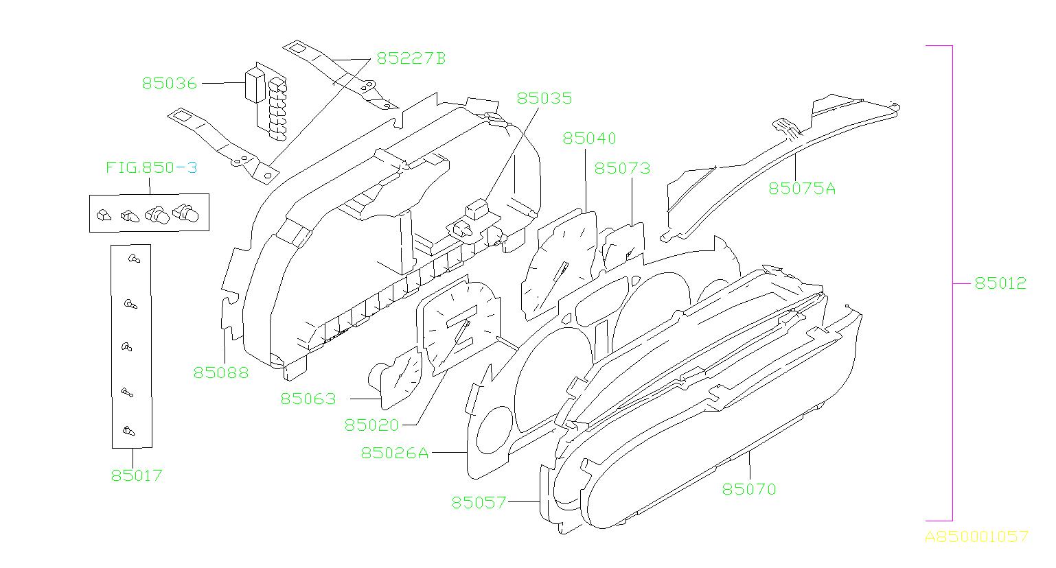 Subaru Legacy Speedometer assembly. U*. Electrical