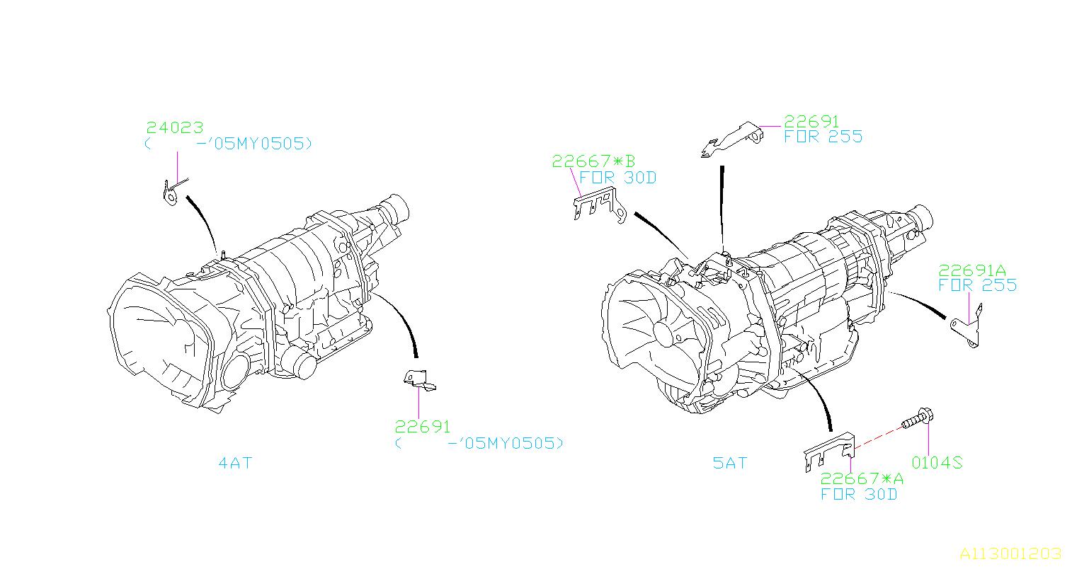 Subaru Outback Stay-transmission harness. Transfer, manual