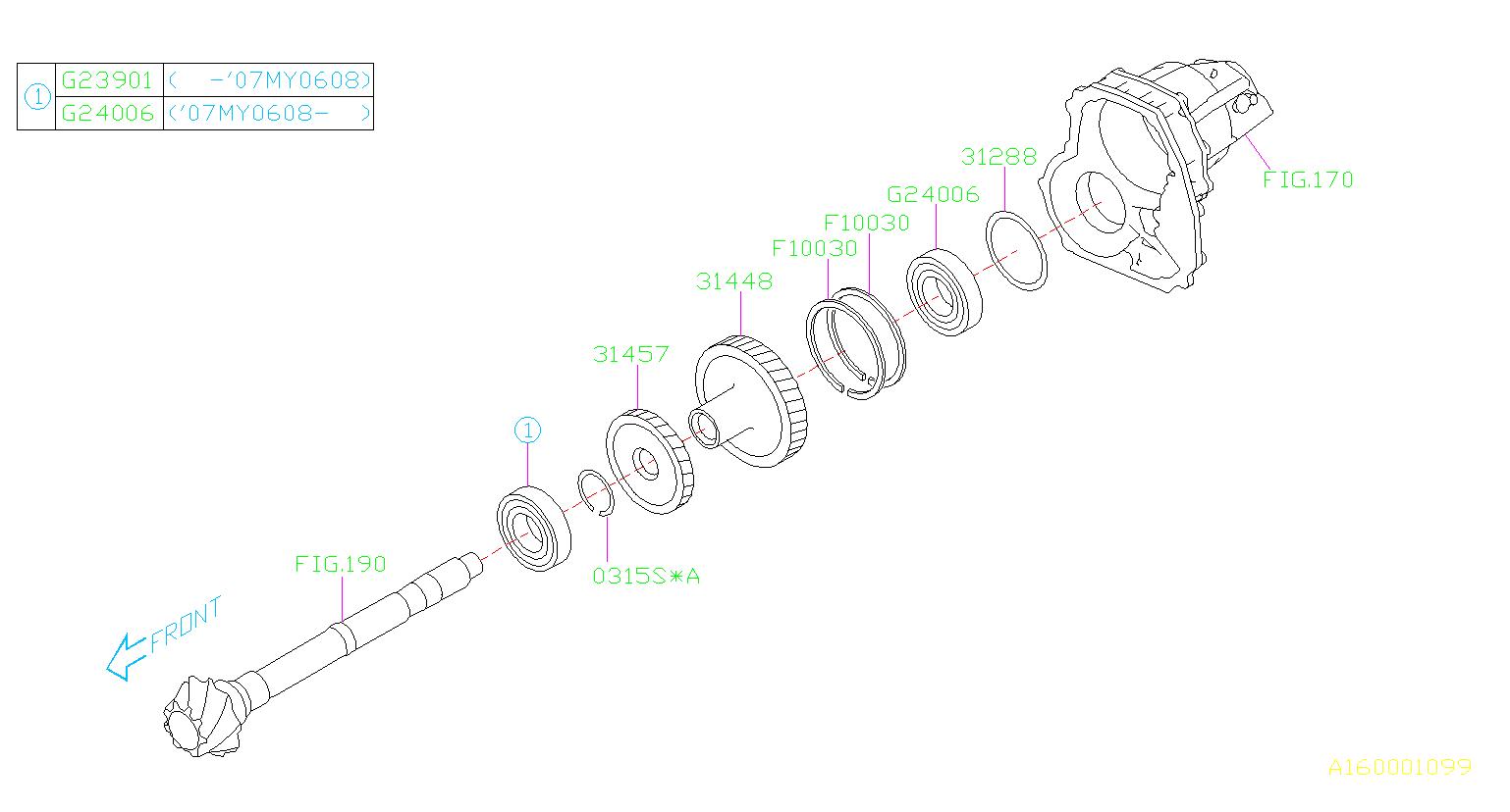 Subaru Legacy Gear-parking. Reduction, transmission