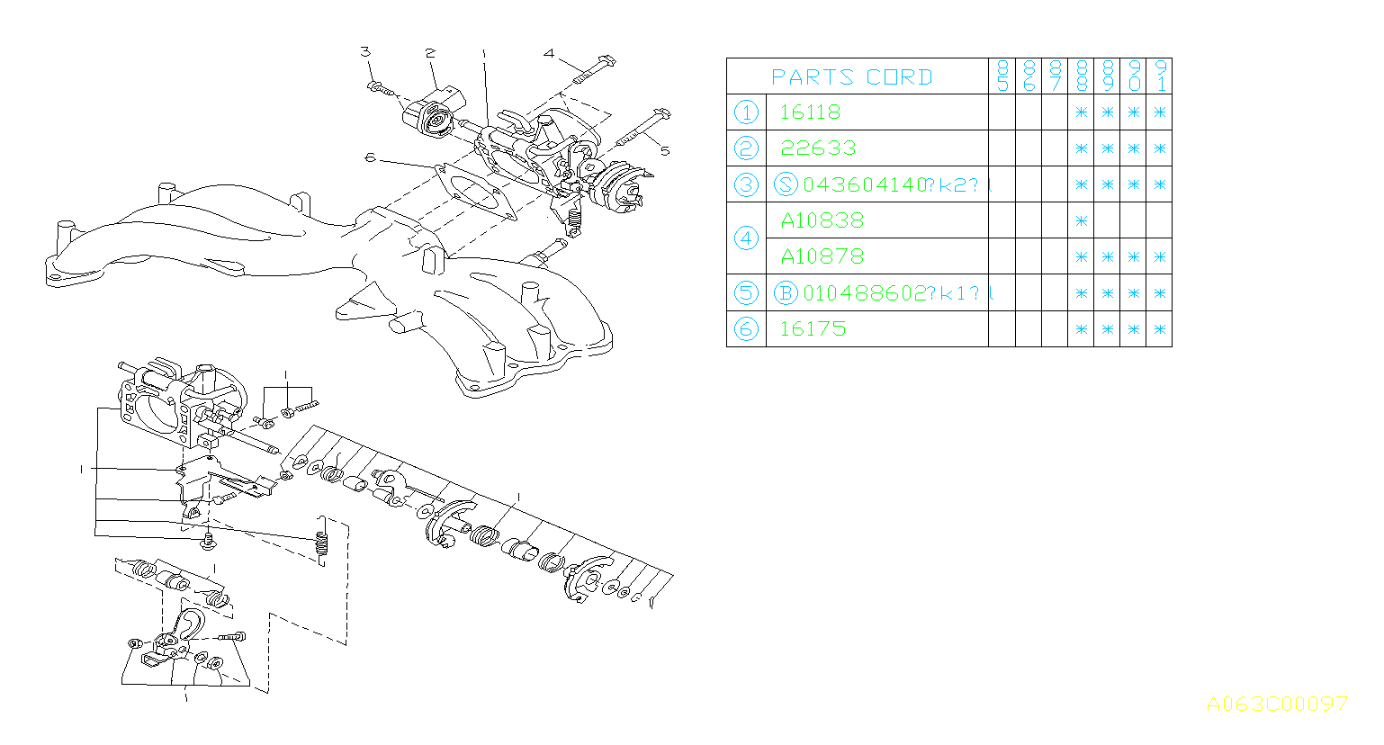 Subaru XT Sensor assembly-throttle. Chamber, engine
