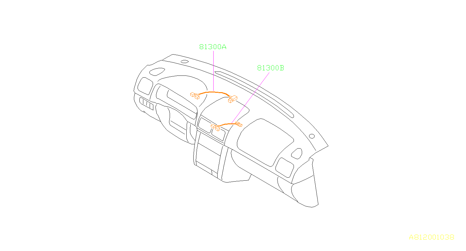 Subaru Impreza Harness-instrument panel, center. Wiring