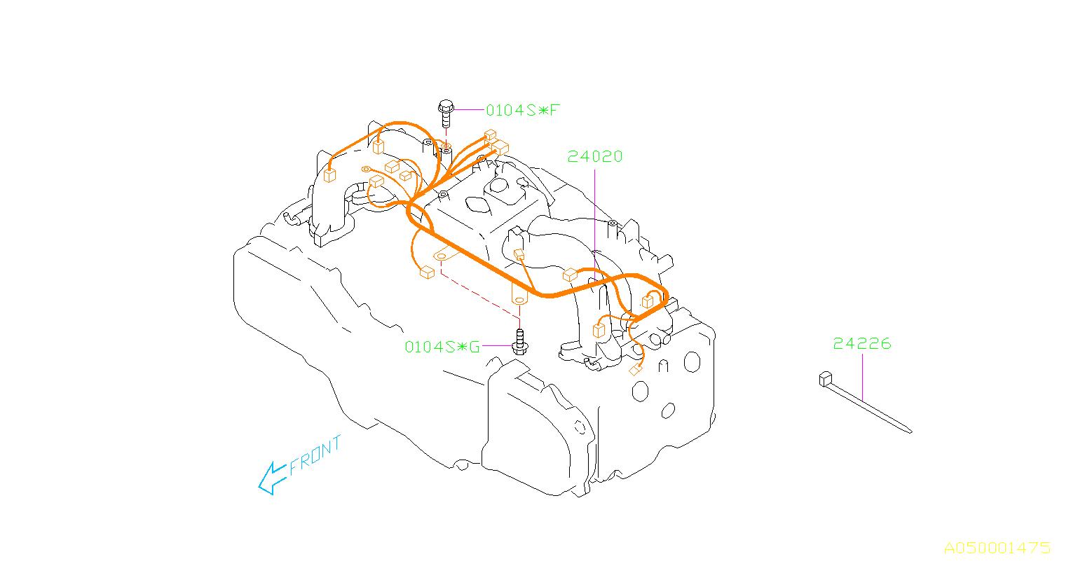 Subaru Impreza Flange Bolt Manifold Intake Engine