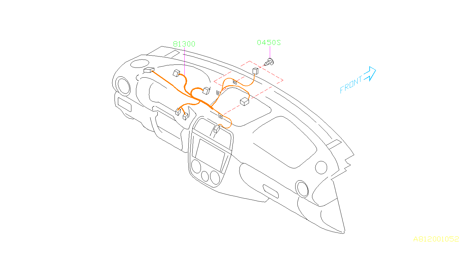 Subaru Impreza Harness-instrument panel. Wiring