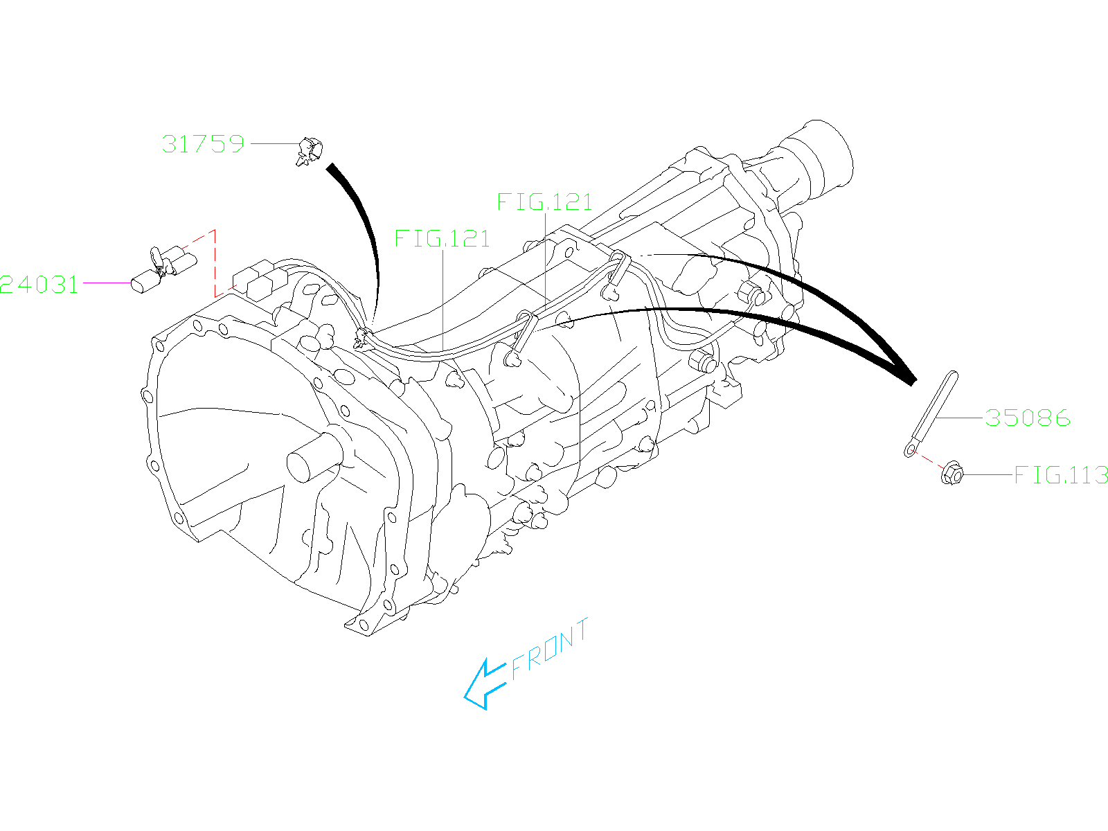 Subaru Crosstrek Clip Transmission Harness Manual