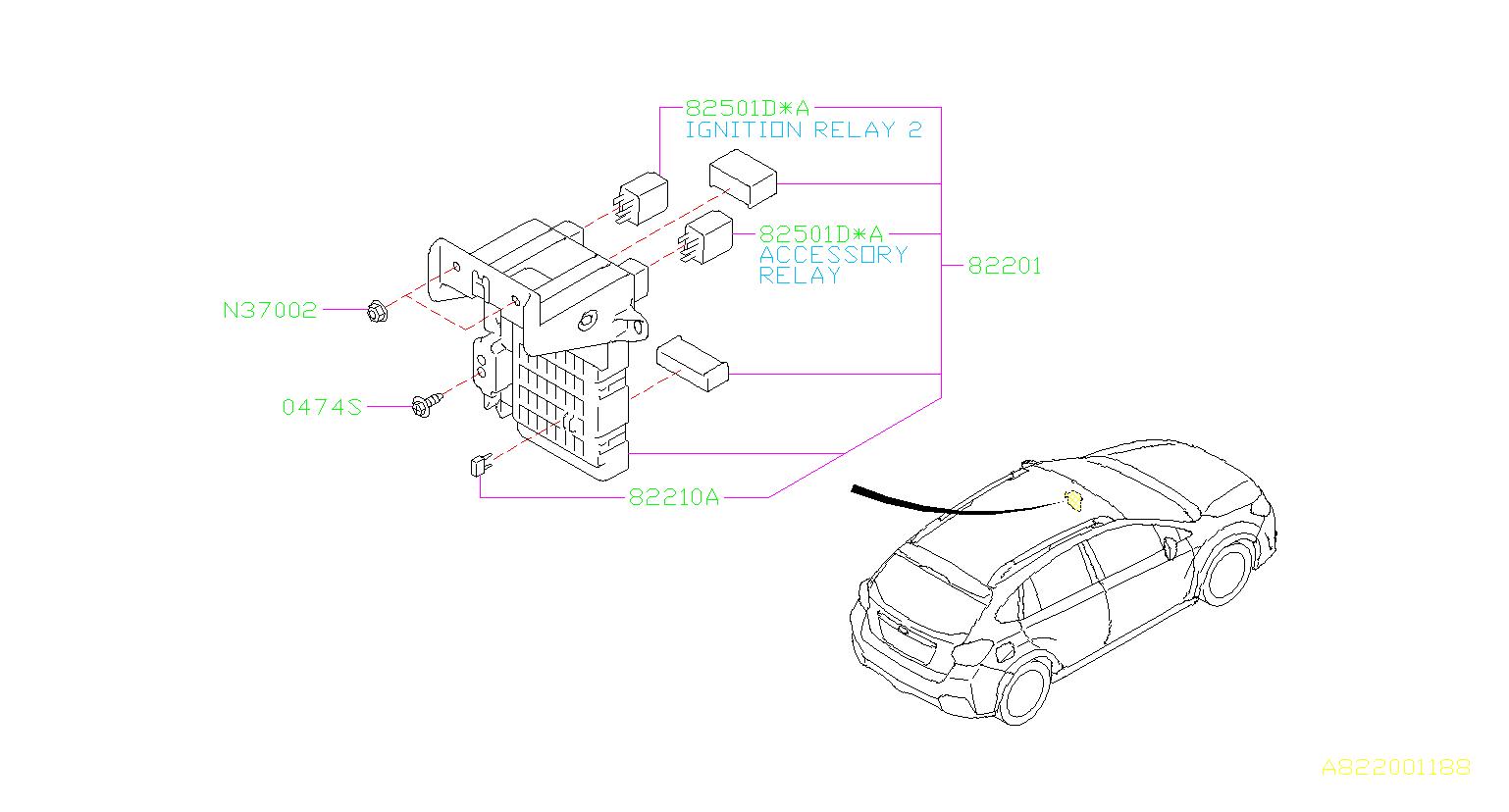 Subaru Crosstrek Joint box assembly. Fuse, electrical