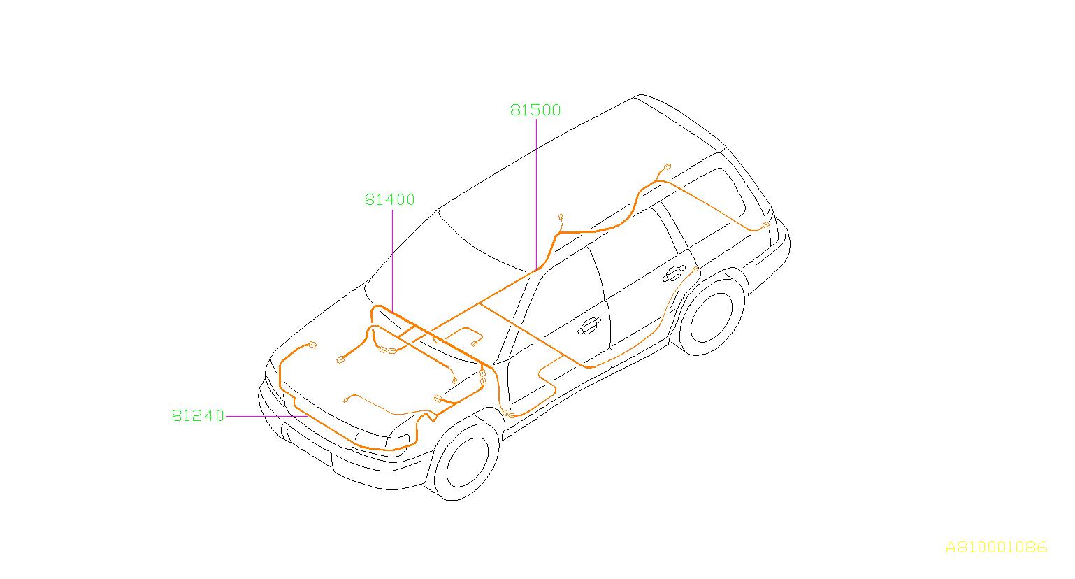 Subaru Forester Harness-bulkhead. Main, wiring, electrical