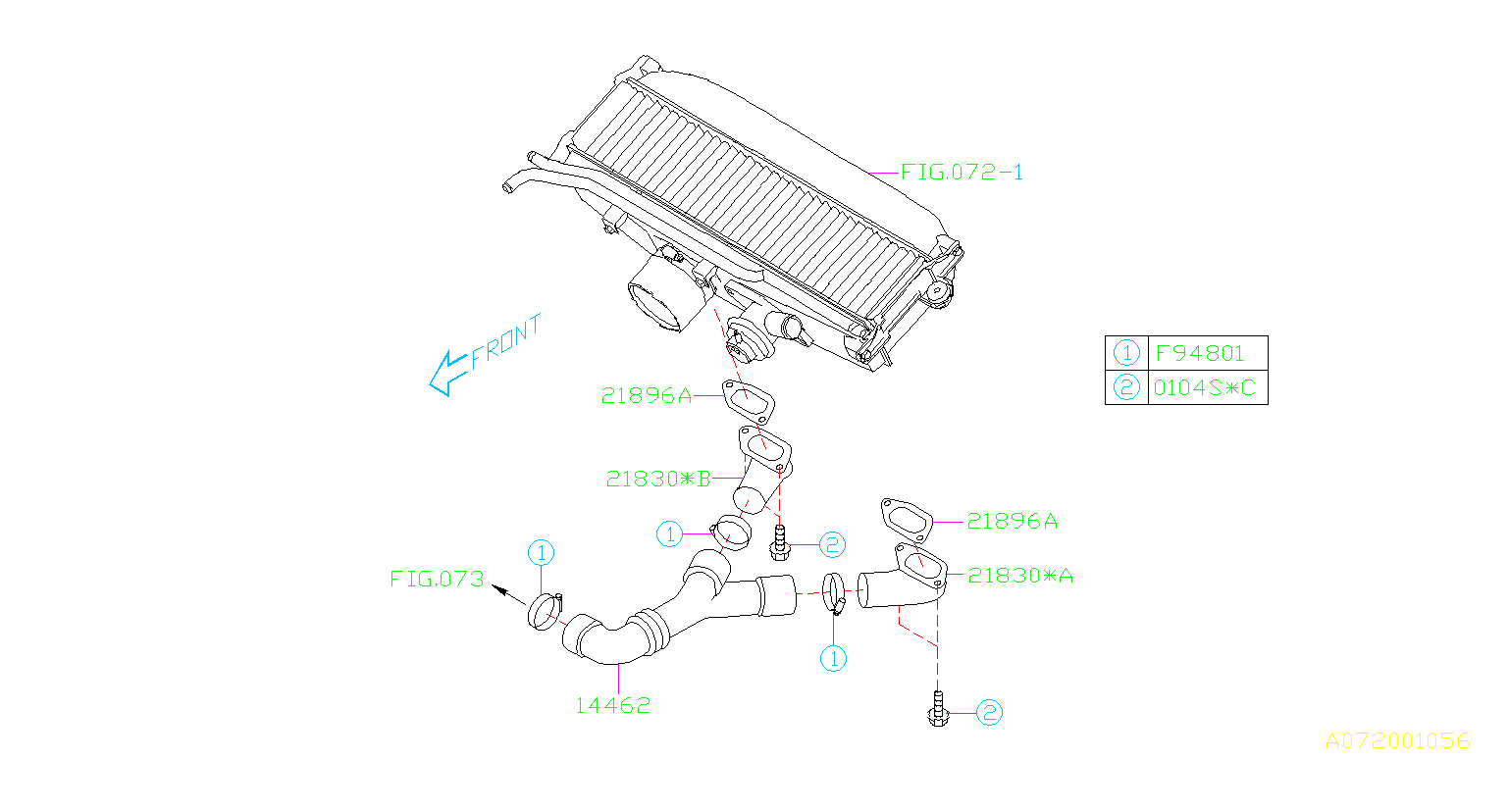 Subaru Forester Duct-inter cooler. Air, system, engine