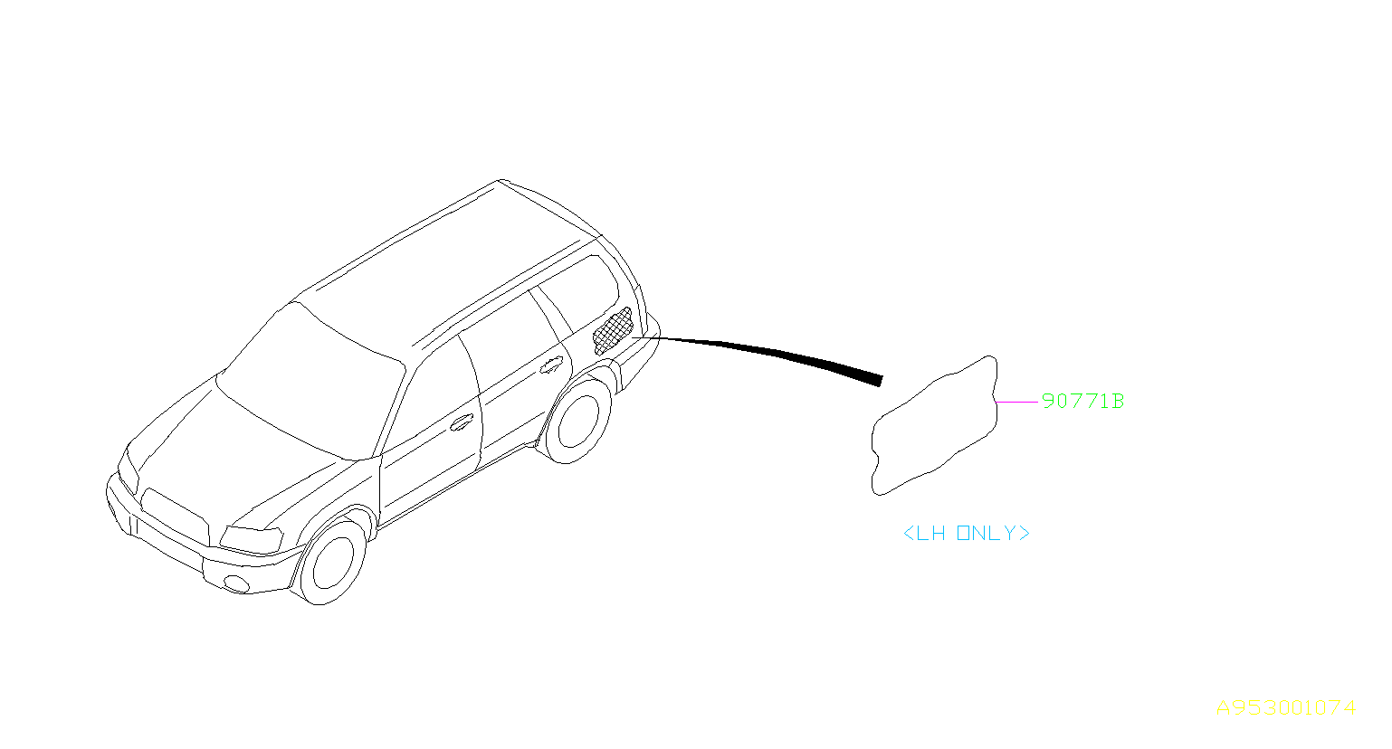 Subaru Forester Damping sheet-rear quarter, left. Silencer