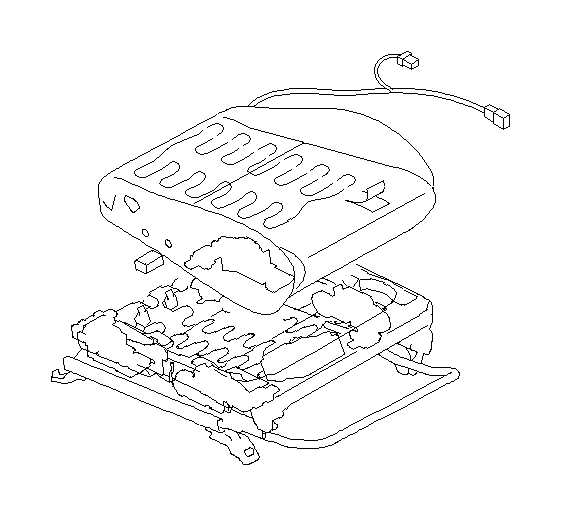 Subaru Outback Cover-front cushion, right. Seat, backrest
