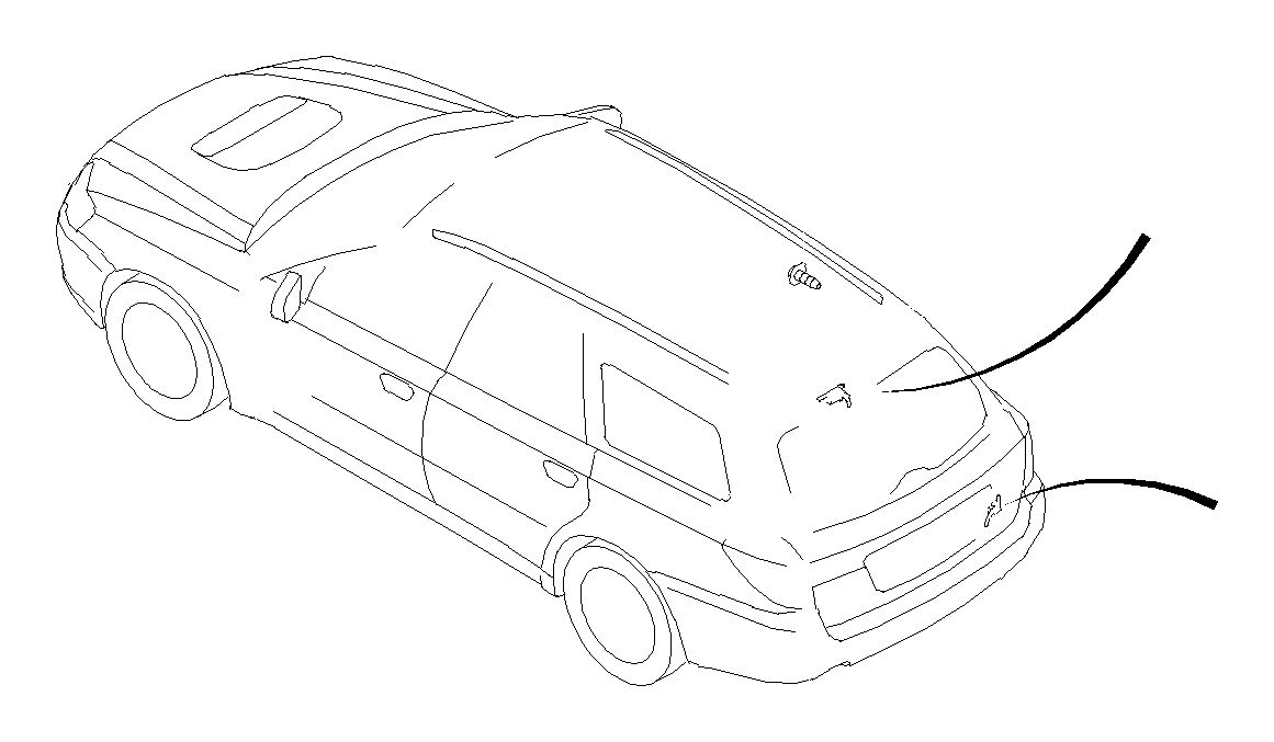 Subaru Legacy Cord assembly-antenna, feeder. Harada