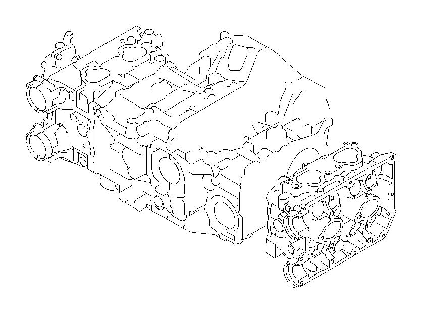 Subaru Legacy Head assembly-cylinder, left. Body, engine
