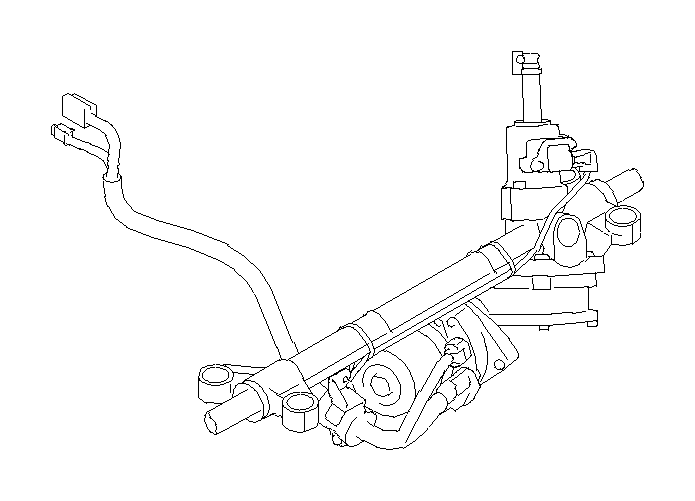 Subaru Legacy Steering gear box assembly, eps. Power
