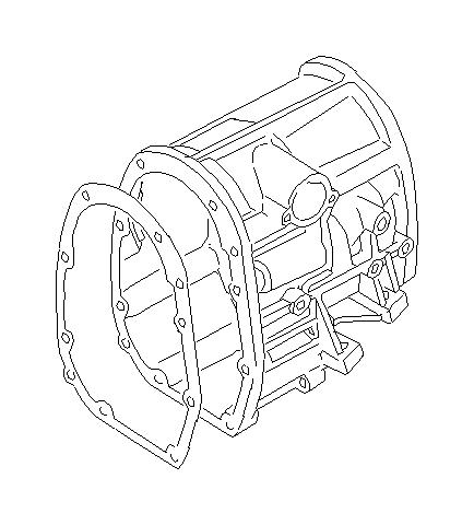 Subaru WRX Case complete-transfer. Extension, transmission
