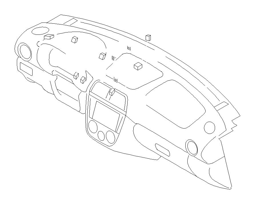Subaru WRX Harness-instrument panel. Wiring