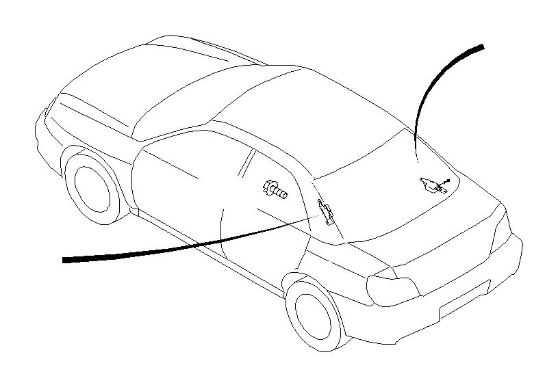 Subaru Legacy Tape-fuel cord. Antenna, audio, rear