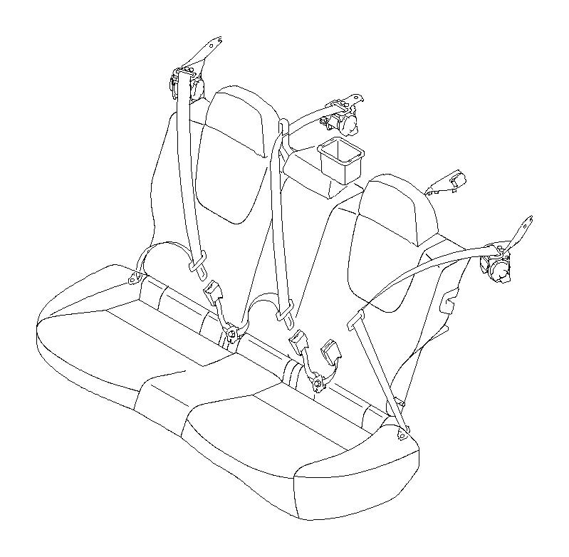 Subaru STI Seat belt-outer rear right. Interior