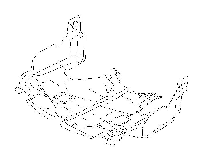 Subaru Crosstrek Under cover-front. Exhaust, body