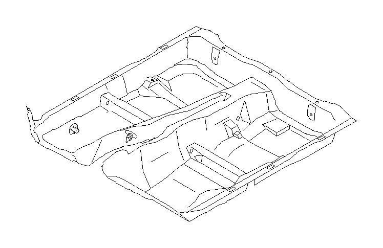 Subaru Forester Mat Floor. (Black). BLACK. Interior, FRONT