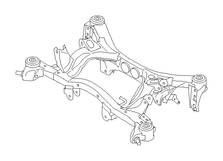 Subaru Forester Suspension Subframe Crossmember (Rear