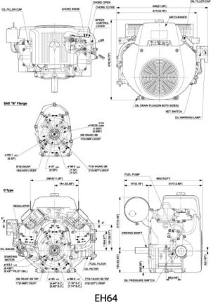 EH64 Small OHV VTwin Engine Technical Information | Subaru