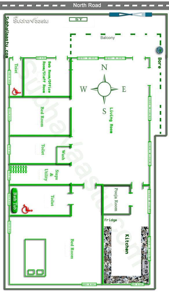 Master bedroom vastu for north facing house for Master bedroom designs as per vastu