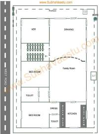 Vastu West Facing House Plan