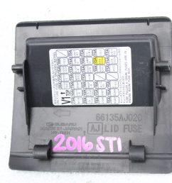 2015 2019 subaru wrx sti fuse box lid assembly coin box oem 66135aj020 [ 1800 x 1200 Pixel ]