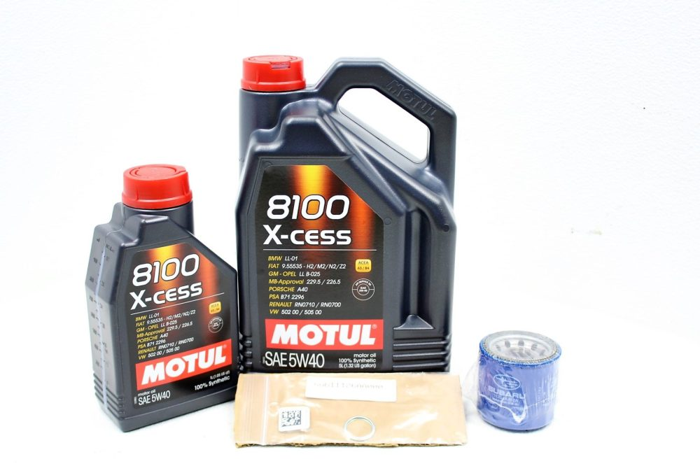 medium resolution of 2002 2014 subaru wrx sti fxt lgt motul 8100 x cess 5w40 engine oil change kit