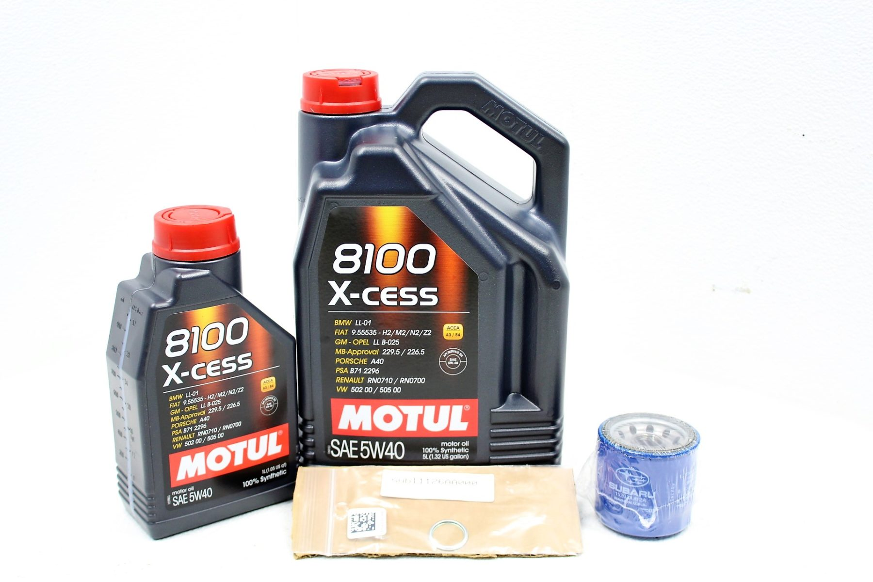 hight resolution of 2002 2014 subaru wrx sti fxt lgt motul 8100 x cess 5w40 engine oil change kit