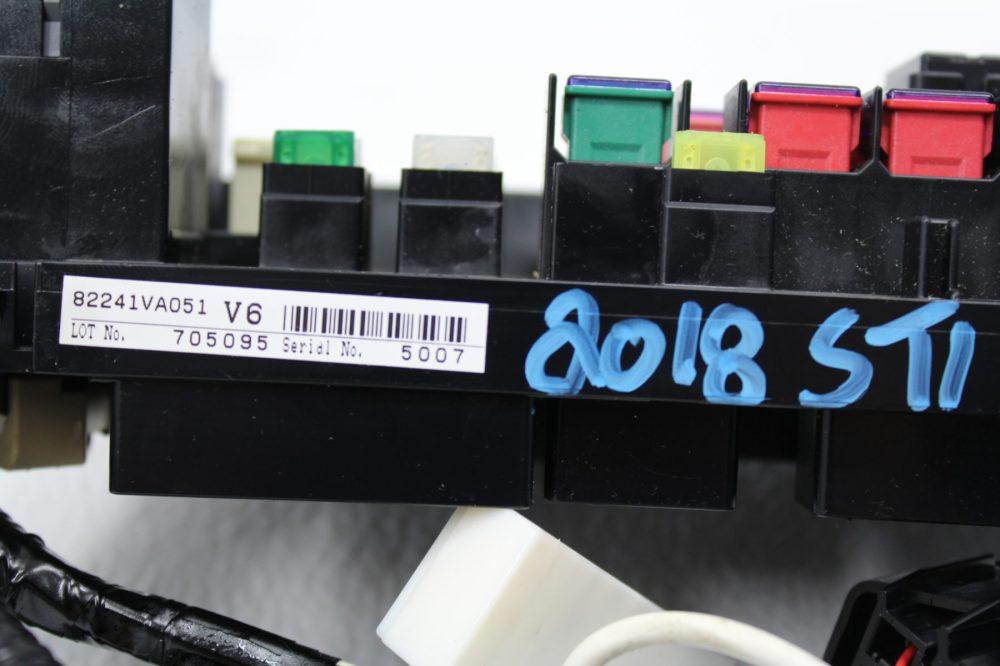 medium resolution of 2017 2018 subaru impreza wrx sti fuse box relay panel wire wiring harness