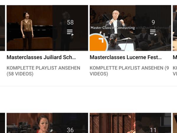 Ready to learn? Hochwertige masterclasses auf youtube