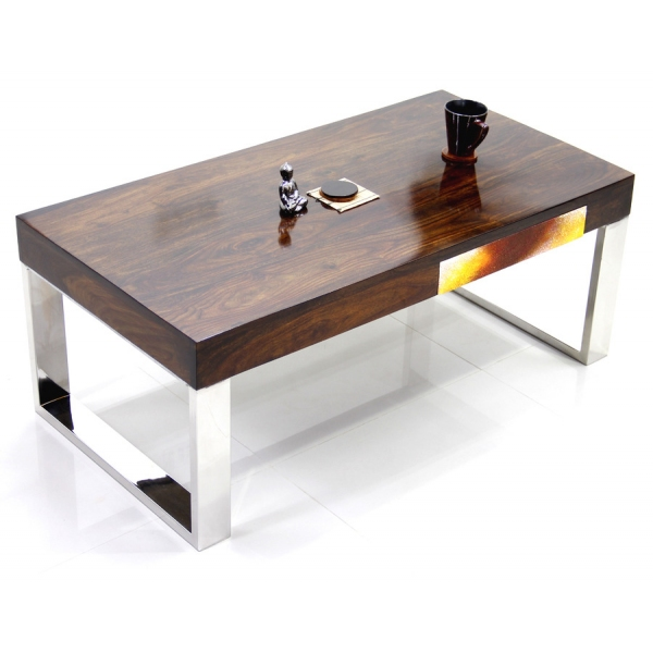 Two Drawer Sheesham Wood Coffee Table Sublime Exports