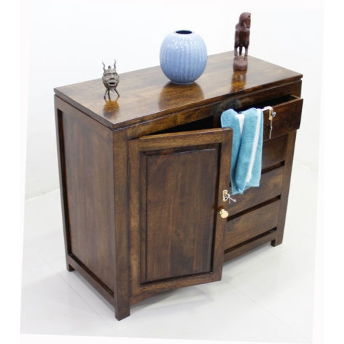 SIDEBOARD WITH STORAGE AND FOUR DRAWERS