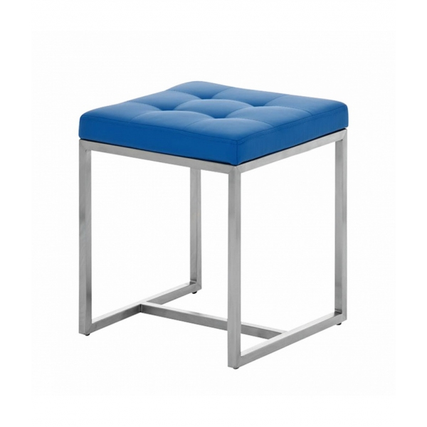 WHITE AND BLUE STOOL
