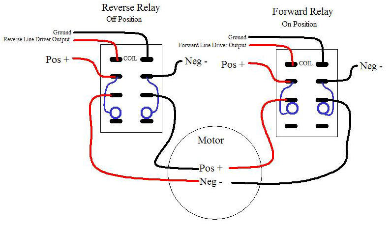 wiring diagram reversing circuit 3 wire underwriter s knot rov joystick for props relays forward and reverse