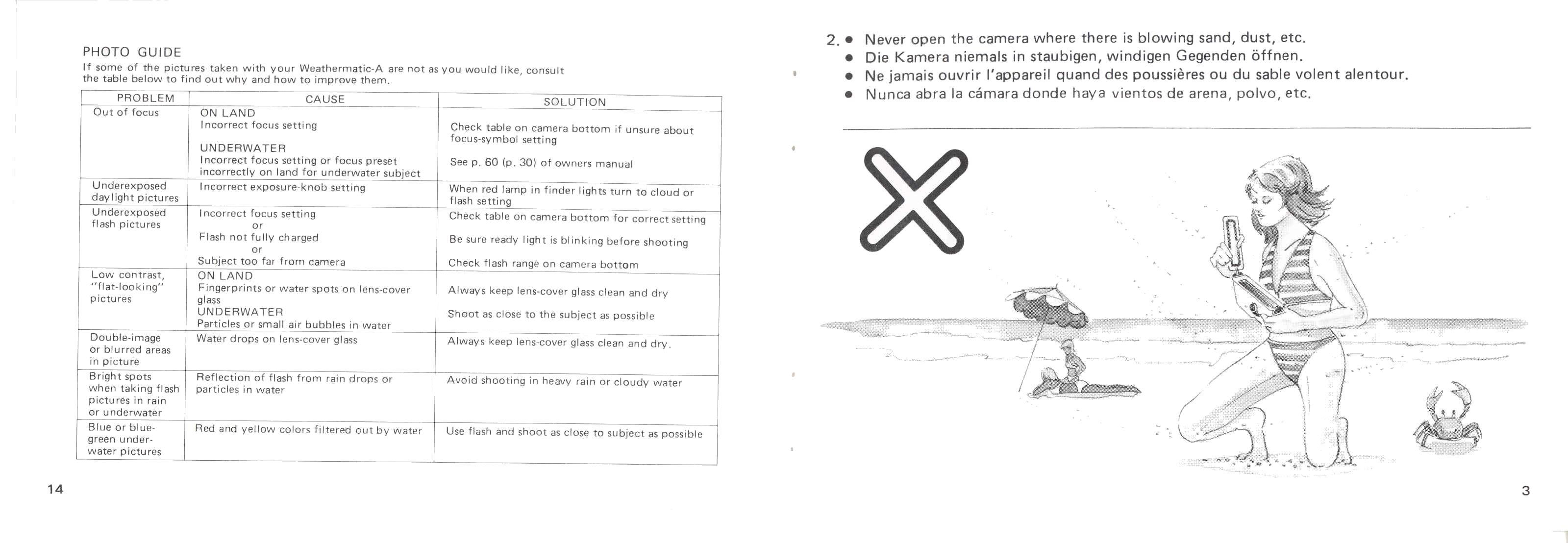 Minolta 110 Weathermatic A (English) Manual