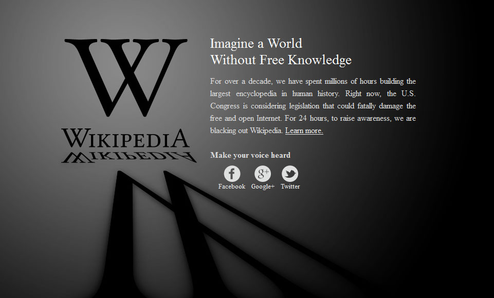SEO News - Access Wikipedia During The Blackout Day