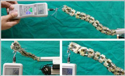 10 N pending overload measurement for snake robot system
