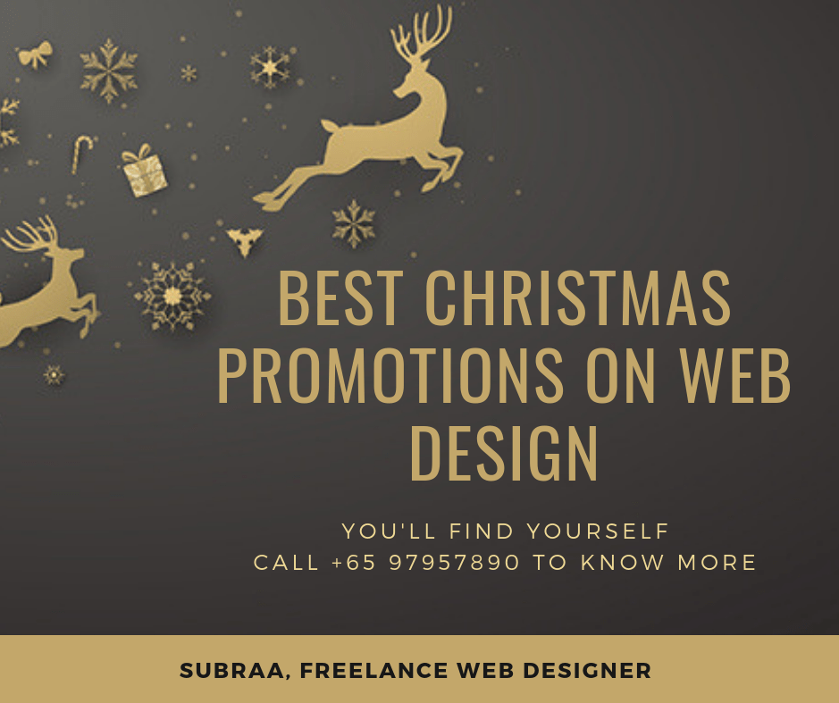 Best Christmas promotions on Web Design from Subraa, Freelance Web Designer Singapore