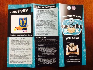 Curiosity Box kids subscription May 2016 review information activity