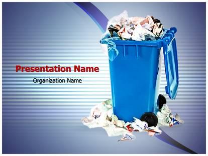 Garbage Bin PowerPoint Template Background