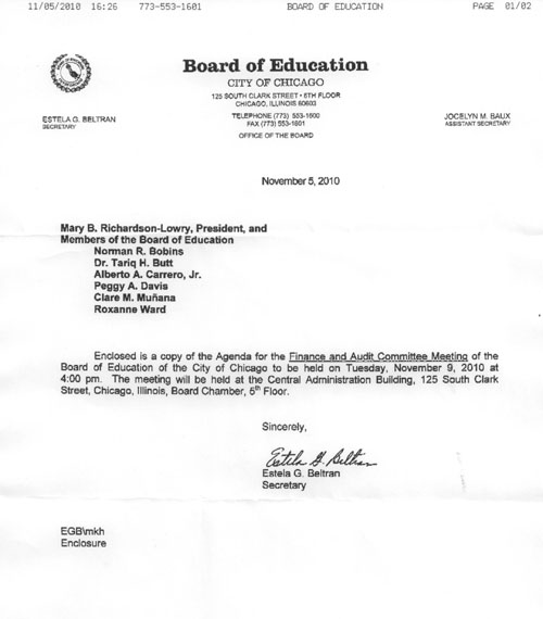 Chicago Board Audit and Finance Committee to meet on November 9  Substance News