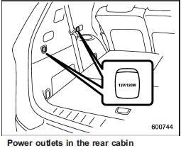 Accessory power outlets :: Interior equipment :: Subaru