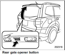 Rear gate :: Keys and doors :: Subaru Forester 2012-2019