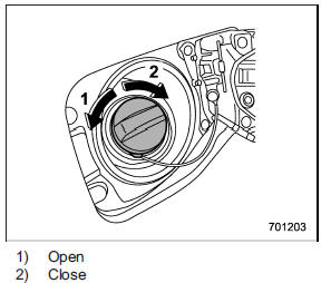 Fuel filler lid and cap :: Fuel :: Starting and operating