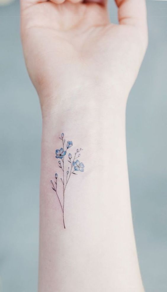 Small Forget Me Not Flower Tattoo Leancy Download